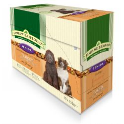 James Wellbeloved Dog Senior Turkey & Rice 10 Pack, 150G