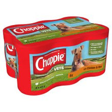 Load image into Gallery viewer, CHAPPIE Dog Cans Chicken & Rice 6x412g,