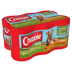 CHAPPIE Dog Cans Chicken & Rice 6x412g,