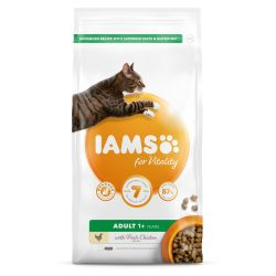 IAMS for Vitality Adult Cat Food with Fresh chicken, 10KG
