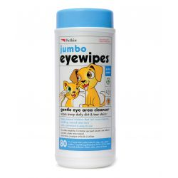 Petkin Jumbo Eye Wipes, 80PCS