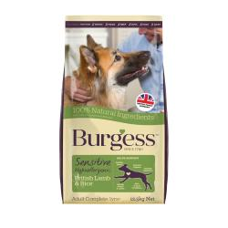 Burgess Sensitive Adult Dog Lamb & Rice, 12.5KG