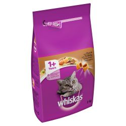 Whiskas 1+ Cat Complete Dry with Duck and Turkey 2kg