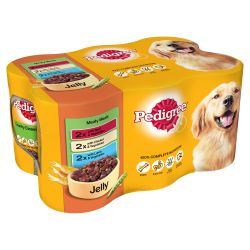 Pedigree Can in Jelly Meaty Meals 6 Pack, 400G