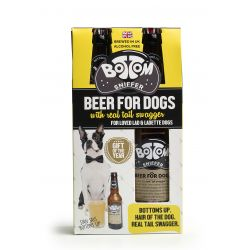 Woof & Brew Bottom Sniffer Beer Gift, 2X330ML