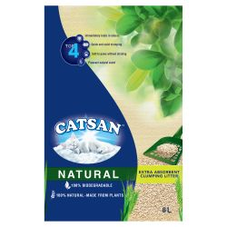 Catsan Natural Biodegradable Clumping Cat Litter 8L,