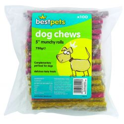 "Bestpets Rolls Assorted 5"" pack of 100"