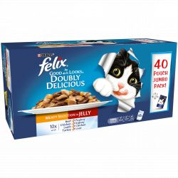 Felix Pouch As Good As It Looks Doubly Delicious 40 pack, 100G