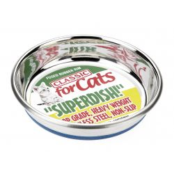 Classic Non Slip Cat Stainless Steel Superdish, 5