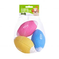 Assorted Rugby Balls 3PK