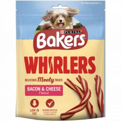 BAKERS Dog Treat Bacon and Cheese Whirlers 130G