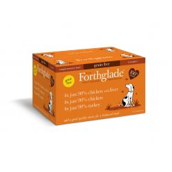Forthglade Just Grain Free Poultry Mix 12 pack, 395G