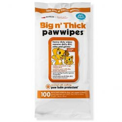 Petkin Big n Thick Paw Wipes, 100PCS