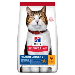 HILL'S SCIENCE PLAN Mature Adult Dry Cat Food Chicken, 1.5KG