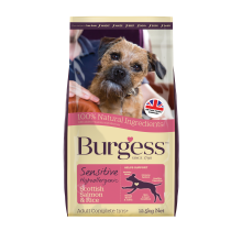 Burgess Sensitive Adult Dog Salmon & Rice, 12.5KG