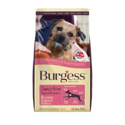 Burgess Sensitive Adult Dog Salmon & Rice