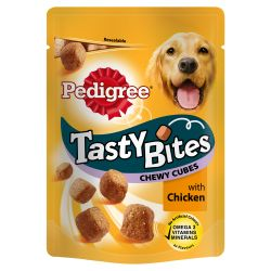 Pedigree Tasty Bites Chewy Cubes with Chicken, 130G