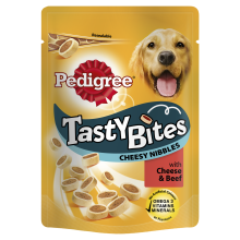 Pedigree Tasty Bites Cheesy Nibbles with Cheese & Beef, 140G