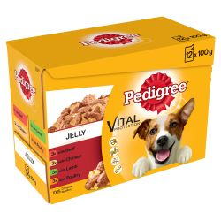 Pedigree Adult Wet Dog Food Pouches Mixed Selection in Jelly 12x100g