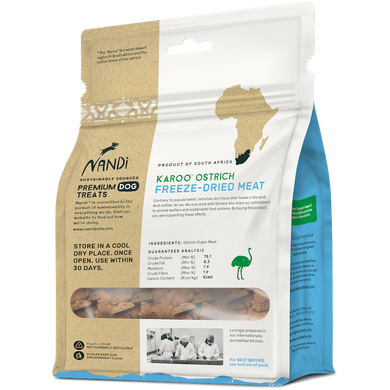 Karoo Ostrich Freeze-Dried Meat