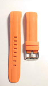 Orange Integrated Rubber Watch Strap for the SKX007