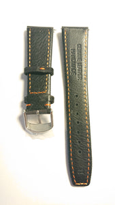 Sail Cloth 22mm Watch Strap - Black and Orange