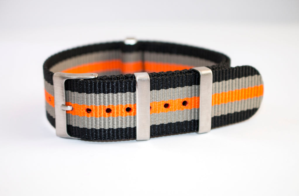 orange grey black nato 2 dlw watches watch strap 22mm seiko skx 007 uk usa