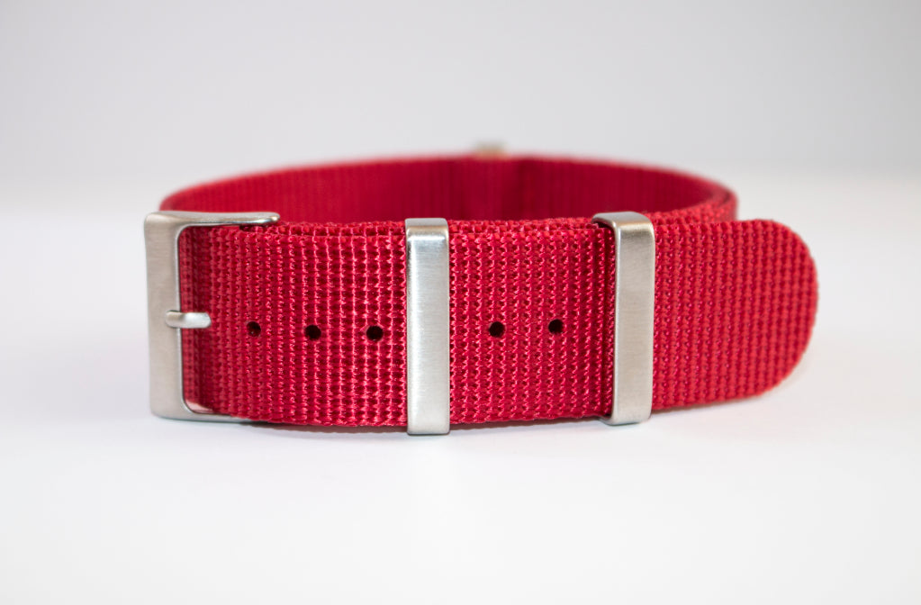 red NATO 2 22mm seiko skx007 watch strap