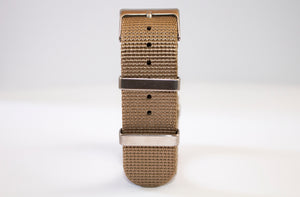 bronze beige nato watch strap 22mm dlw nato 2