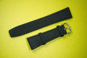 22mm watch strap sail cloth black seiko skx007