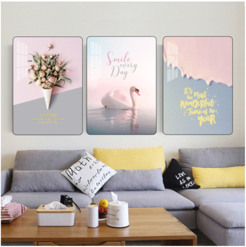 Nordic A7 Living Room Decoration Painting Modern Minimalist Free Punch Homebelieve