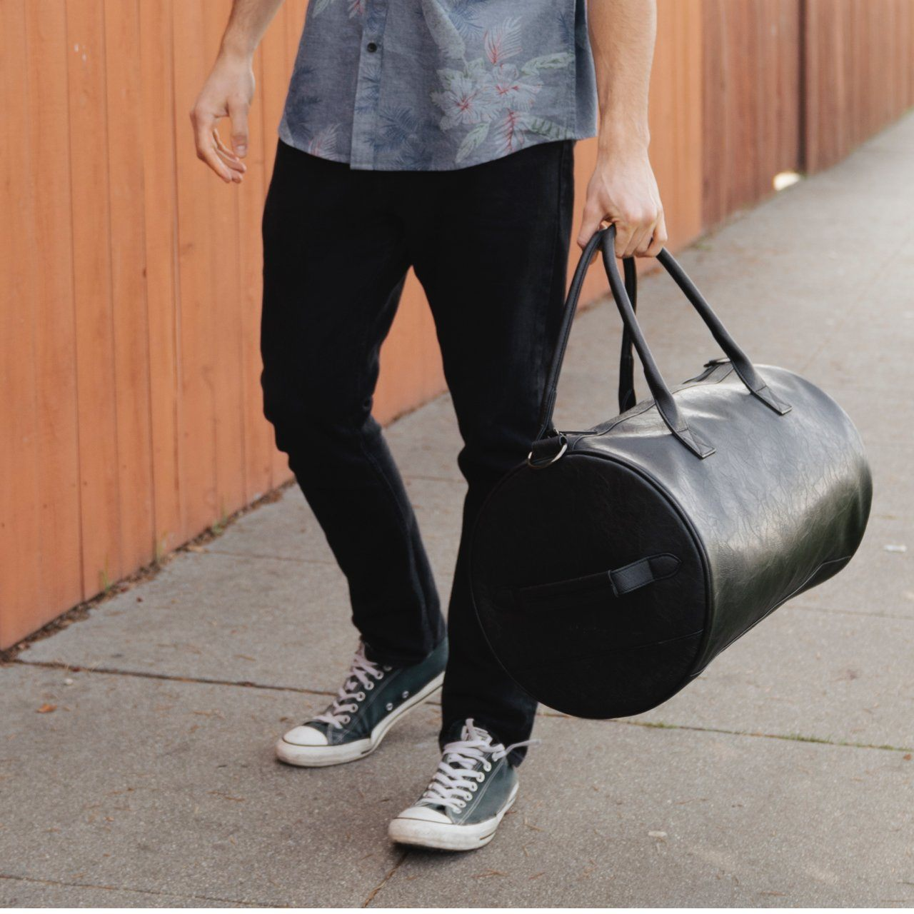 Wes Vegan Leather Duffle Bag