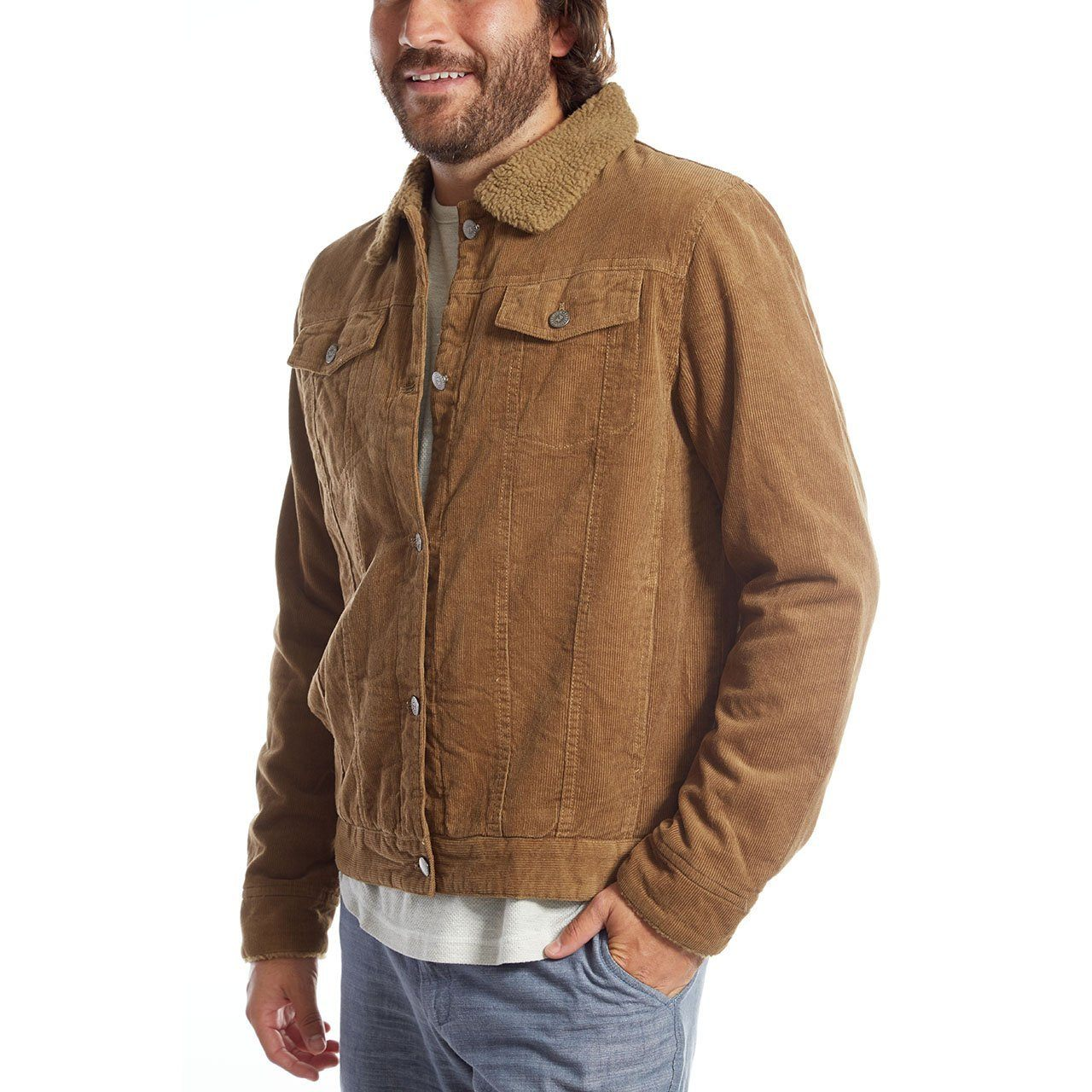 Aviator Jackets - Marlon Corduroy Aviator Jacket