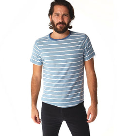 Crew Neck Tees - Nolan Striped Tee