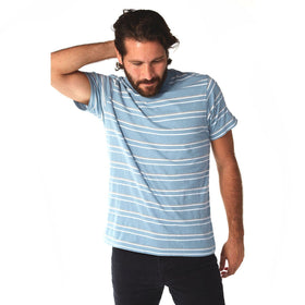Crew Neck Tees - Preston Striped Tee
