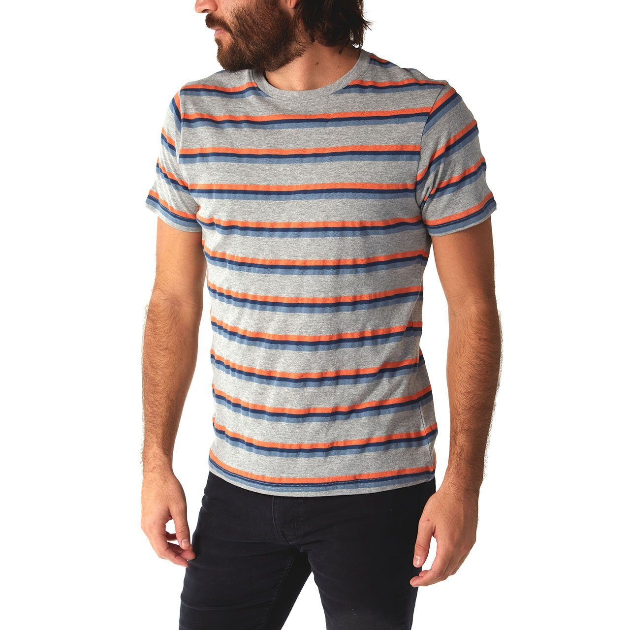 Crew Neck Tees - Hunter Striped Tee