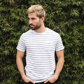 Crew Neck Tees - Rick Striped Tee