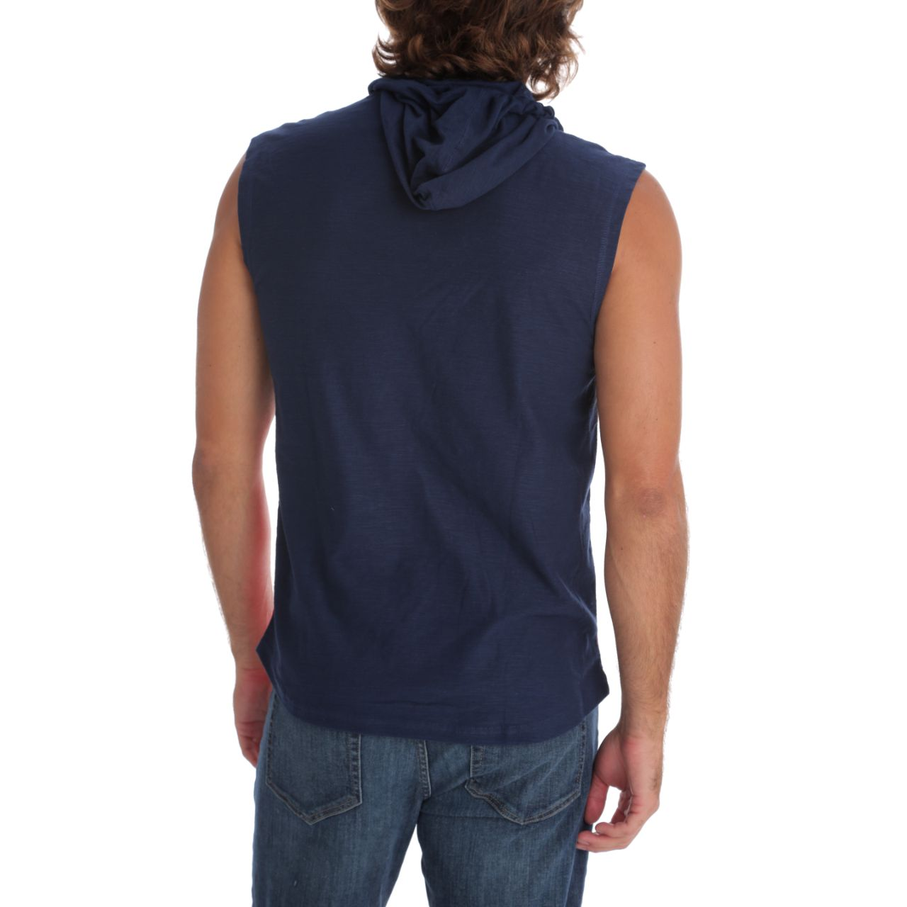 Clay Hooded Muscle Tank