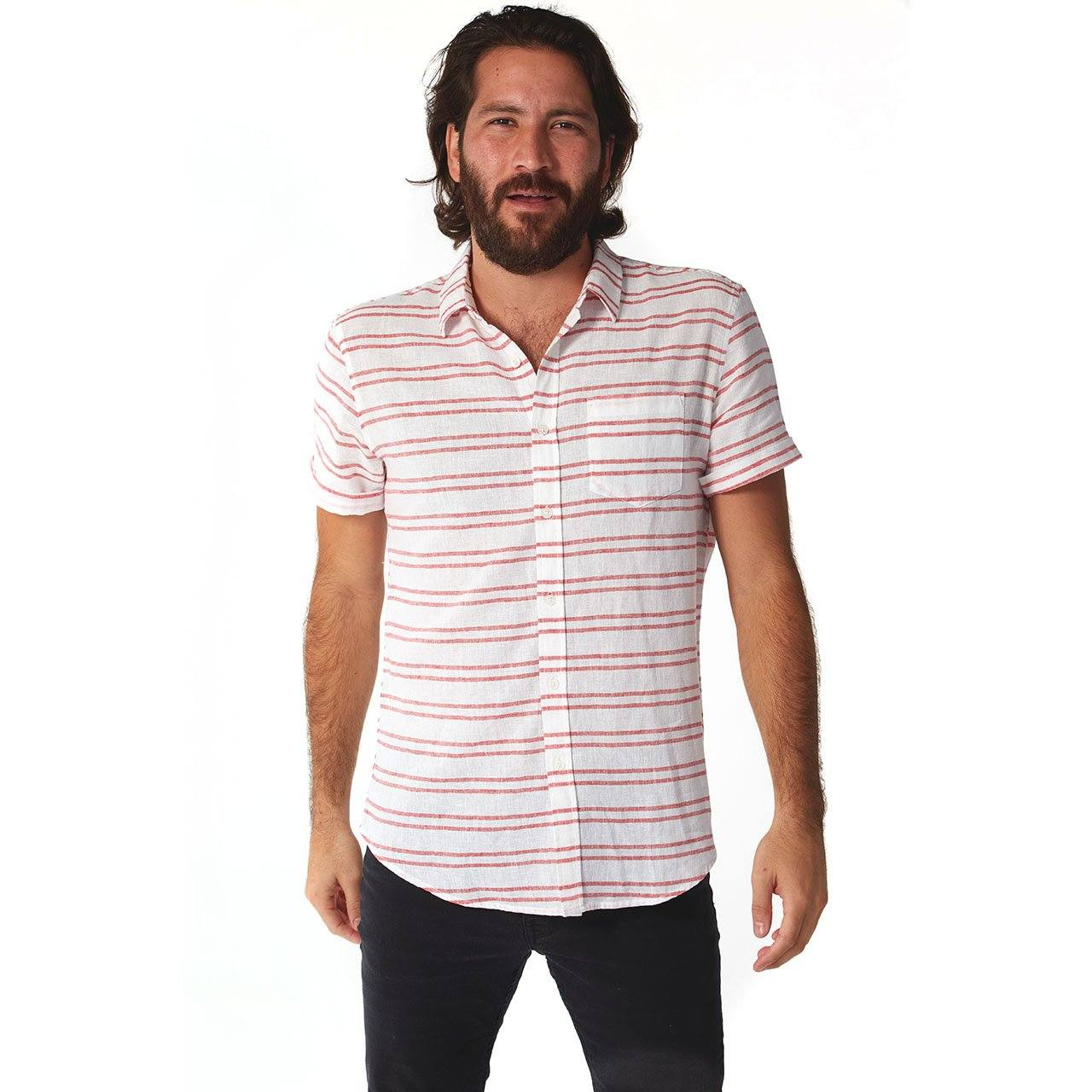 Short Sleeve Shirt, Shirt - Edgar Linen Shirt