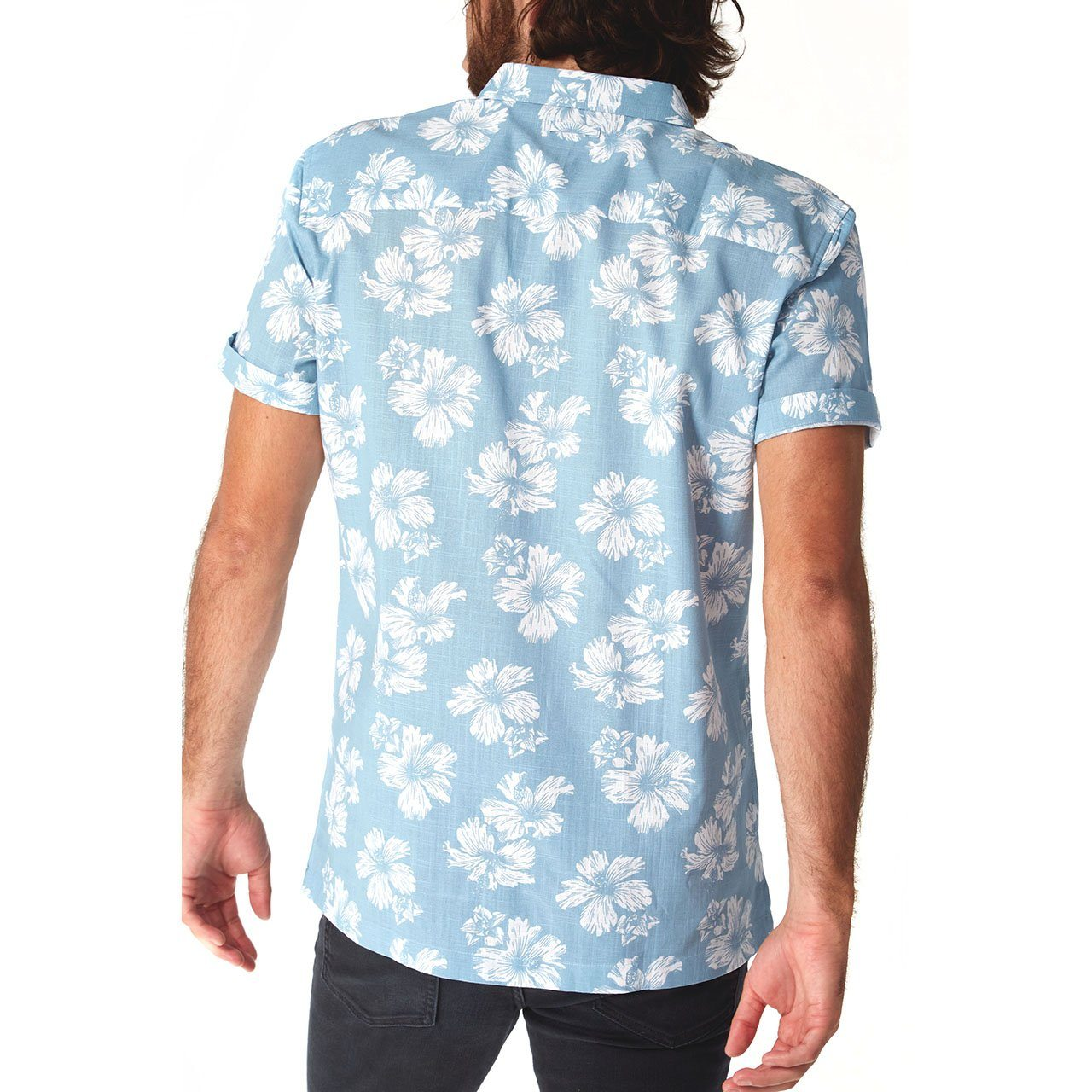 Short Sleeve Shirt, Shirt - Spencer Floral Shirt