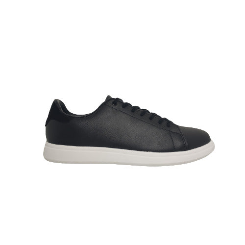 Liam Black Leather Sneaker