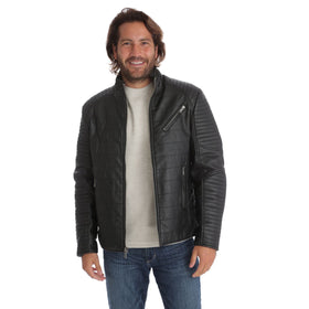 Ian Vegan Leather Moto Jacket