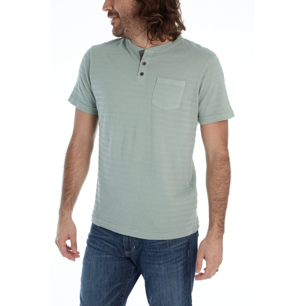 Brodie Garment Dyed Henley