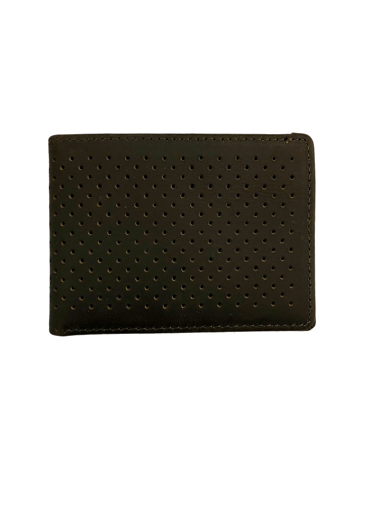 Kyle Leather Perforated Bifold Wallet