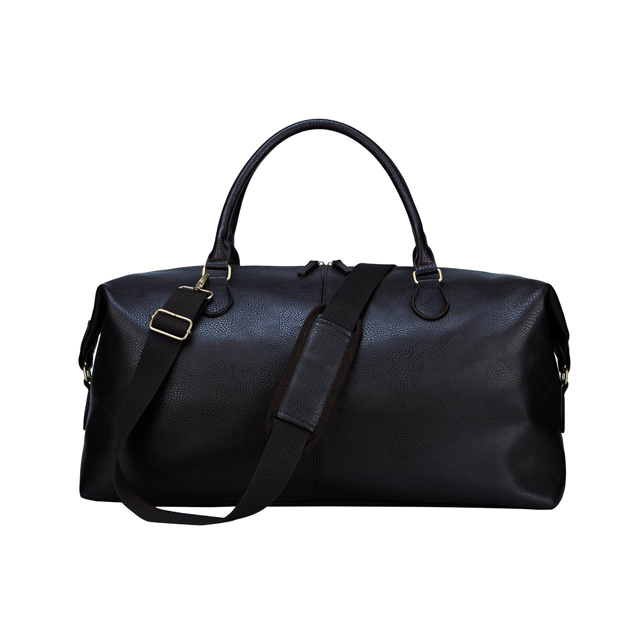 Duffle Bag - Gunner Black Vegan Leather Duffle Bag