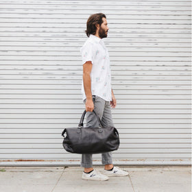 Duffle Bag - Gunner Brown Vegan Leather Duffle Bag