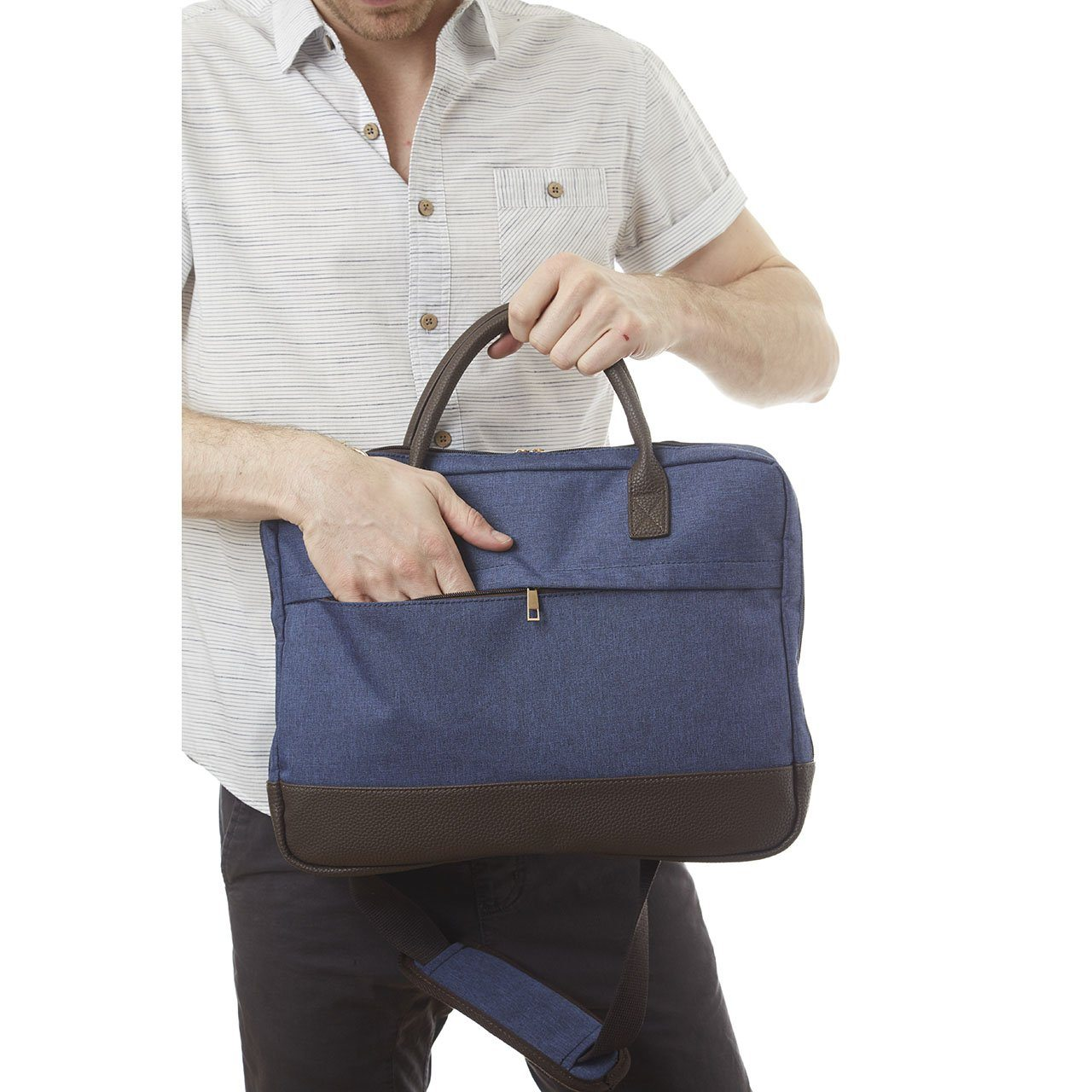 Laptop Bag - Gilbert Two Tone Laptop Bag