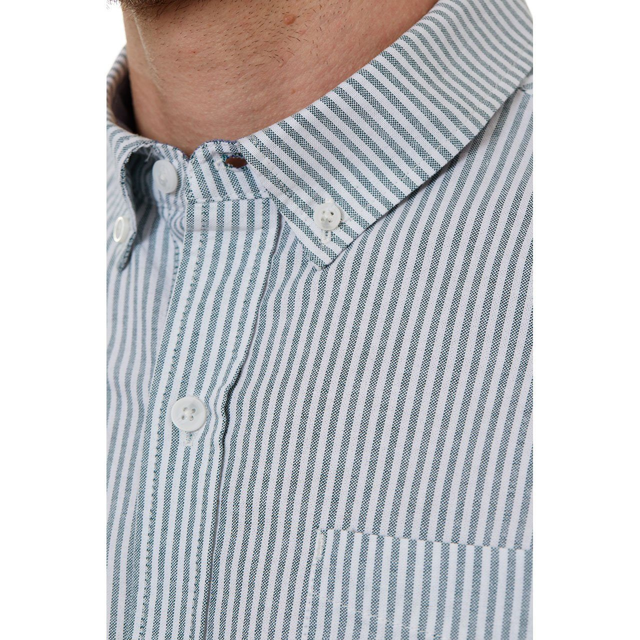 Short Sleeve Shirt, Shirt - Larry Green Vertical Striped Shirt