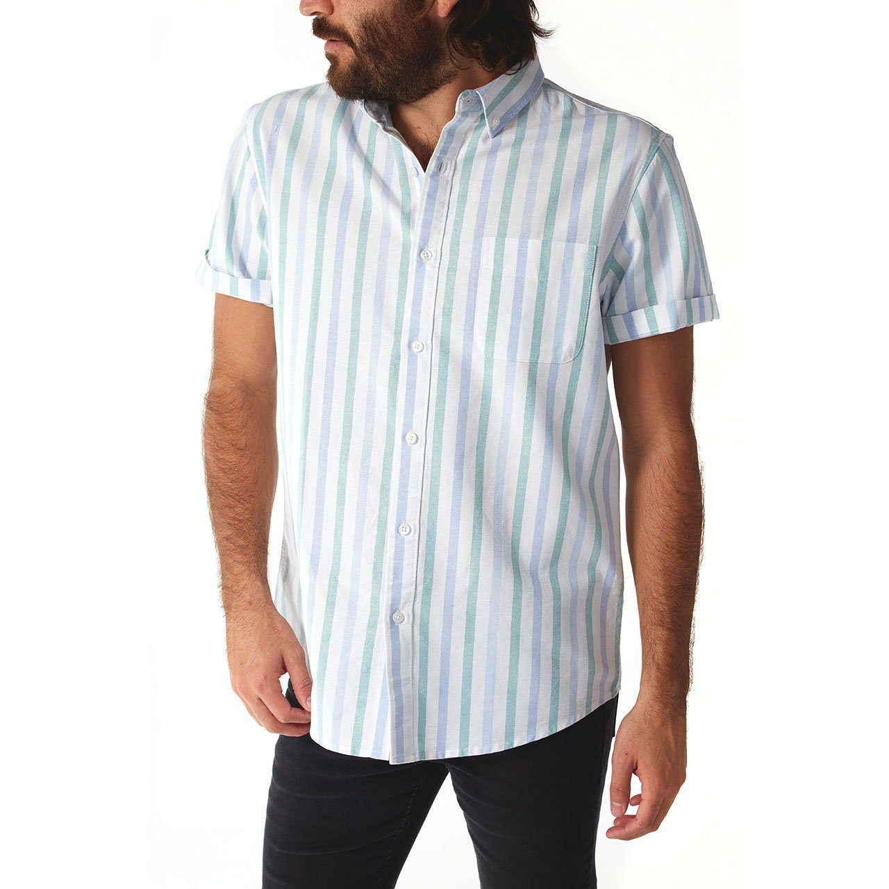 Short Sleeve Shirt, Shirt - Martin Vertical Striped Shirt