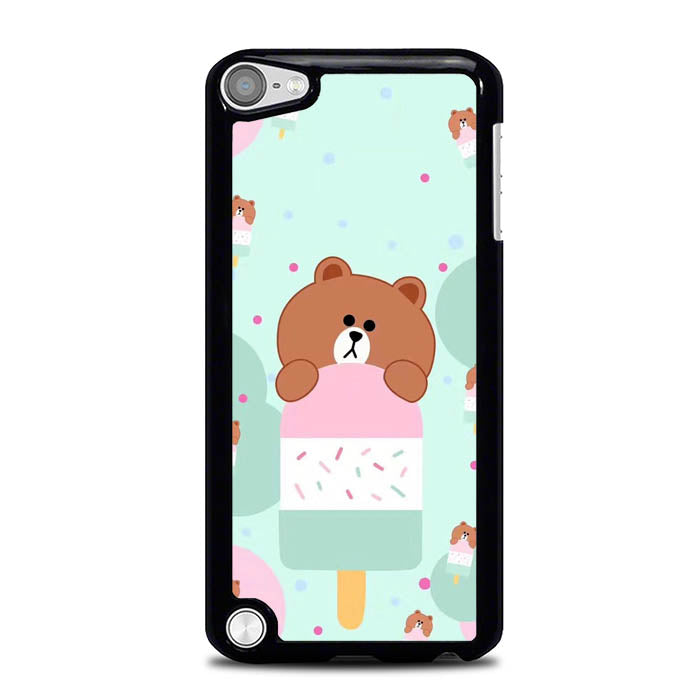 Brown Eat Ice Cream L0325 iPod Touch 5 Case